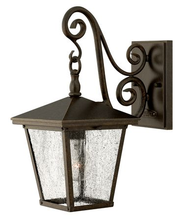 Shown in Regency Bronze finish and Clear Seedy glass