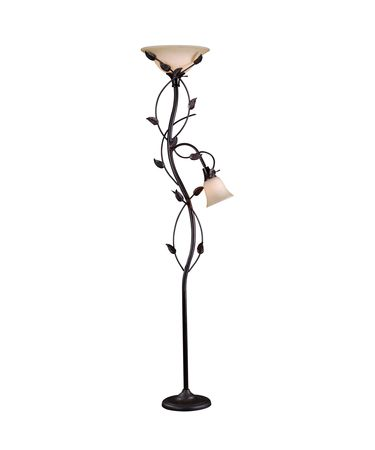 Shown in Oil Rubbed Bronze finish and Ambercavo glass
