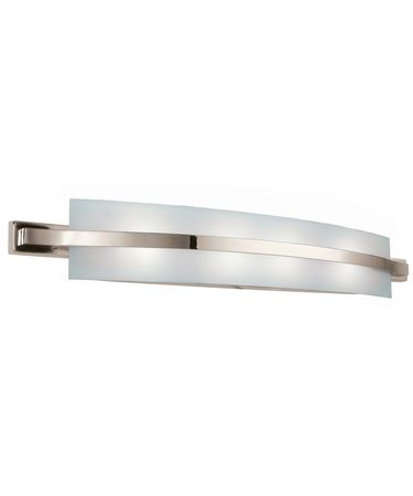 Shown In Polished Nickel Finish And Etched Linear Glass