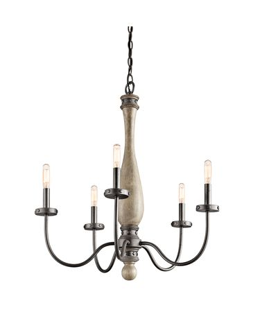 Shown in Distressed Antique Gray finish