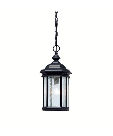 Shown in Black finish and Seedy glass