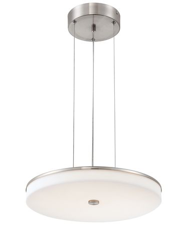 Shown in Brushed Nickel finish and White Acrylic shade