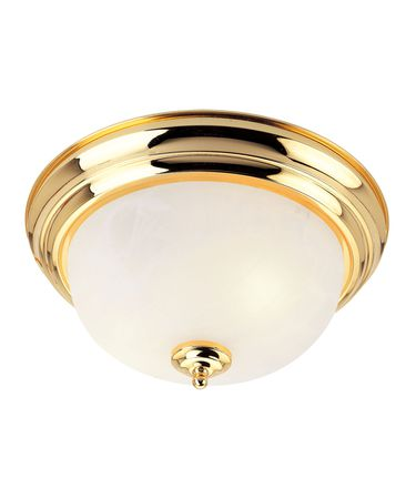 Shown In Polished Brass finish with White Alabaster glass