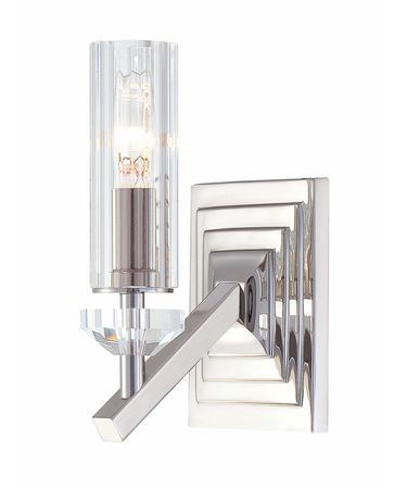 Shown in Polished Nickel finish and Eidolon Krystal Glass shade