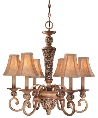 Shown in Florence Patina finish and Embroidered Faux Silk shade