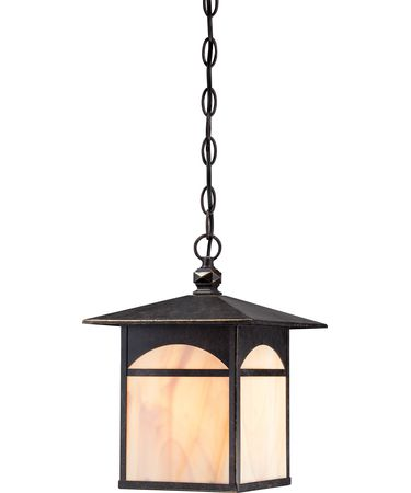 Shown in Umber Bronze finish and Honey Stained glass
