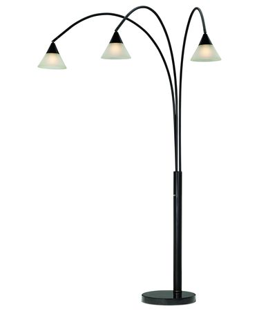 Shown in Dark Bronze-Gold finish and Glass shade