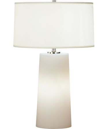 Shown in Polished Nickel finish and White Organza Fabric with Self-Fabric Top Diffuser shade