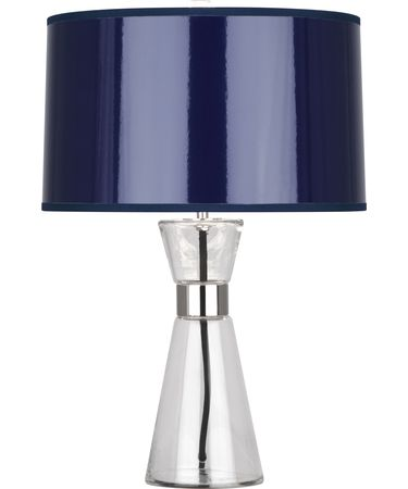 Shown in Polished Nickel finish and Navy Ceramik shade