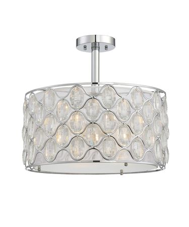 Shown in Chrome-Polished Nickel finish and Clear crystal