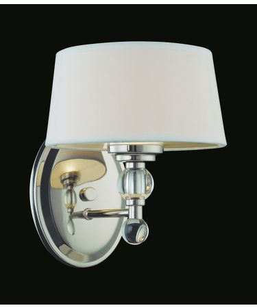 Shown in Polished Nickel finish and White shade