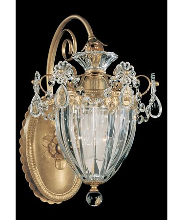 Shown in Heirloom Gold finish and Clear Heritage Handcut crystal