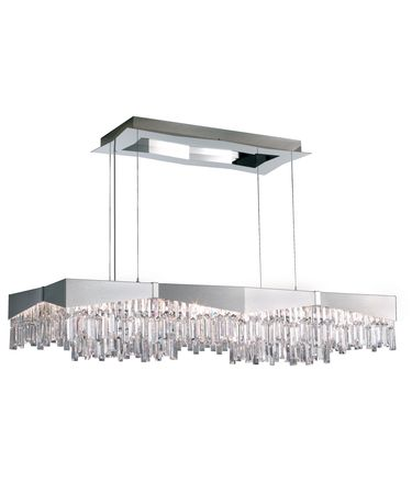 Shown in Brushed Stainless Steel finish and Clear Swarovski Spectra crystal