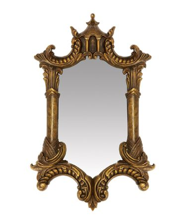 Sterling Industries Gold Plume Wall Mirror