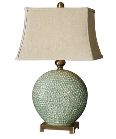 Shown in Verde finish and Rectangle Bell shade