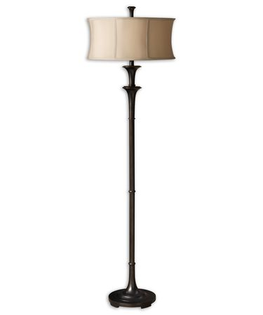 Shown in Oil Rubbed Bronze finish and Round Modified Drum shade