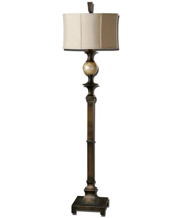 Shown in Bronze finish and Round Modified Drum shade