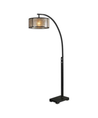 Shown in Oil Rubbed Bronze-Plated Polished Nickel finish and Lightly Antiqued Mica-Oil Rubbed Bronze Metal Trim shade