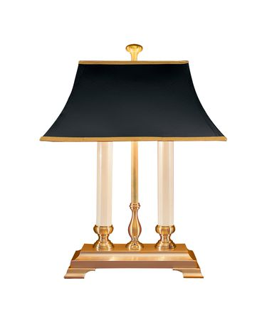 Shown in Brass finish and Paper shade