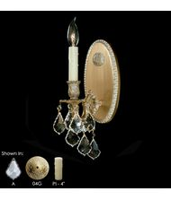 American Brass and Crystal WS9301 Elisa 5 Inch Wall Sconce