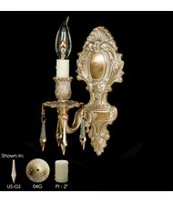 American Brass and Crystal WS9421 9400 Series 5 Inch Wall Sconce