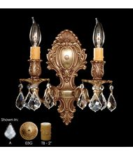 American Brass and Crystal WS9422 9400 Series 10 Inch Wall Sconce