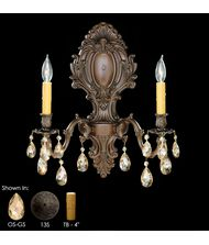 American Brass and Crystal WS9427 9420 Series 18 Inch Wall Sconce