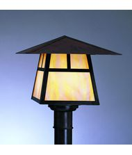 Arroyo Craftsman CP-8 Carmel 1 Light Outdoor Post Lamp