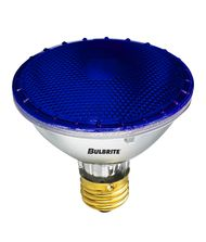 Bulbrite H75PAR30B 75 Watt 120 Volt Blue PAR30 Halogen Short Neck Bulb