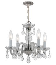 Crystorama 1064 Traditional Crystal 15 Inch Mini Chandelier