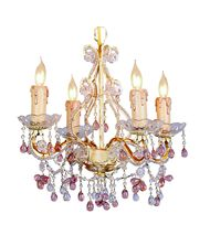 Crystorama 4504 Paris Flea Market 14 Inch Mini Chandelier