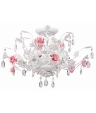 Crystorama 4850 Lola  20 Inch Semi Flush Mount