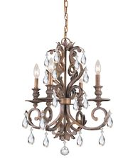 Crystorama 6904 Royal 20 Inch Mini Chandelier
