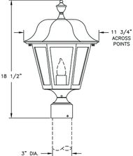 Hanover Lantern B4130 Manor Medium 1 Light Outdoor Post Lamp