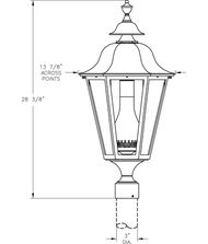 Hanover Lantern B5530 Manor Large 1 Light Outdoor Post Lamp