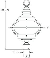Hanover Lantern B9029 Bridgewater Large 1 Light Outdoor Post Lamp