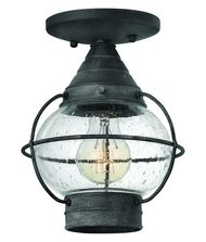 Cape Cod 7 Inch Wide 1 Light Outdoor Flush Mount