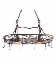 Kalco 3485 Vine 36 Inch Lighted Pot Rack