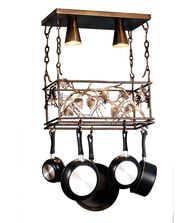 Meyda Lighting 82756 Whispering Pines 24 Inch Lighted Pot Rack