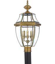 Quoizel NY9043 Newbury 3 Light Outdoor Post Lamp