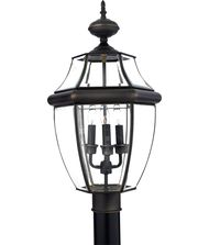 Quoizel Newbury 3 Light Outdoor Post Lamp
